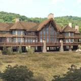 Lodge Log home floor plan