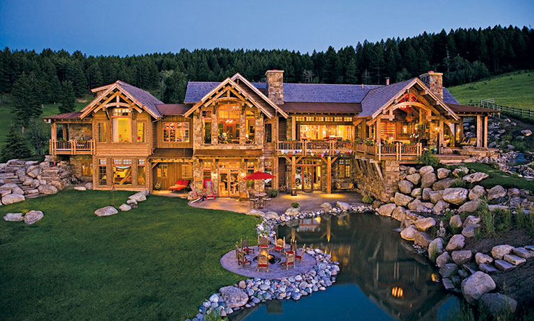 Western Timber Home With Eastern Flair