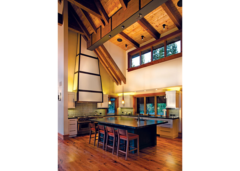 Open Kitchen in Mountain Rustic Home