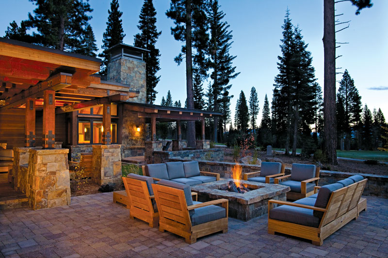 Modern Patio at Mountain Rustic Home