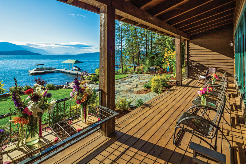 Waterfront Porch at Idaho Timber Frame