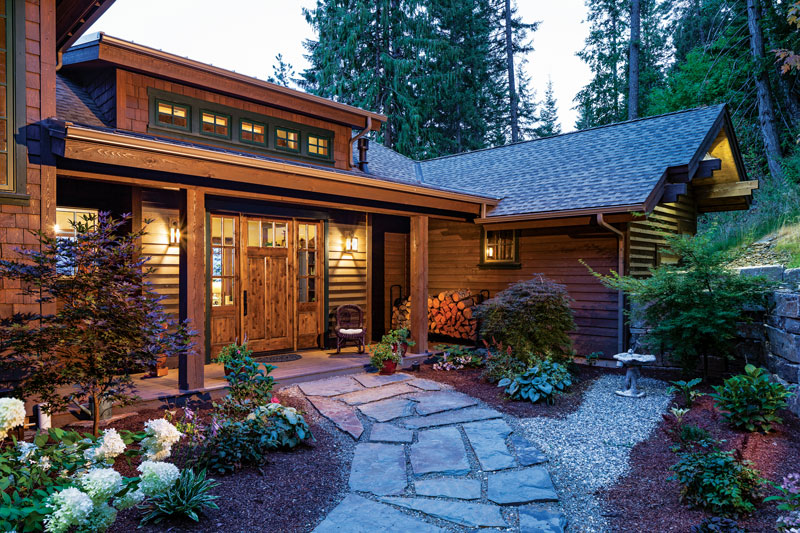 Lakeside Timber Home Idaho Exterior Detail