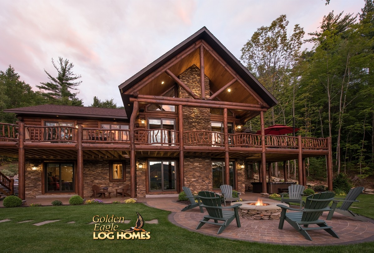 South carolina log home floor plan by golden eagle log homes for Log cabin home plans georgia