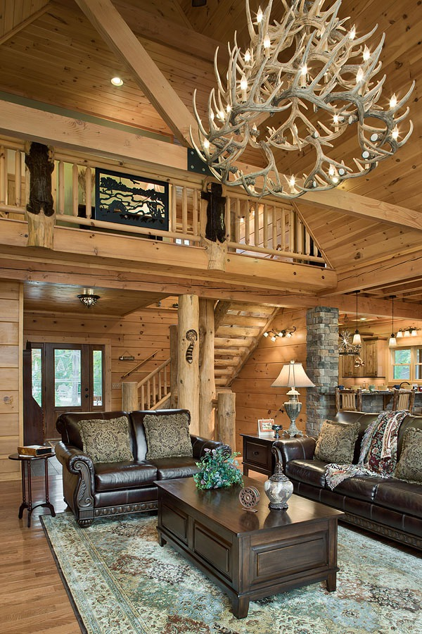 Joyce Log Home Honest Abe Homes Inc