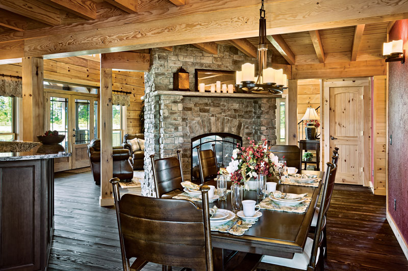 log home dining room tips