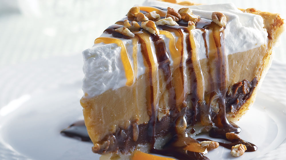 Caramel-Chocolate-Pecan Pie