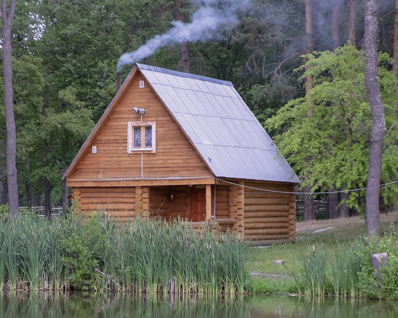 Waterfront Small Log Cabin