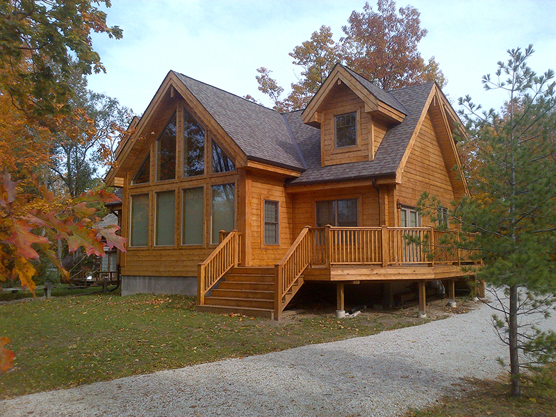 footprint log homes