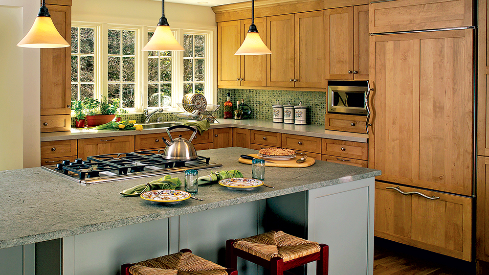 island small kitchen design timber frame