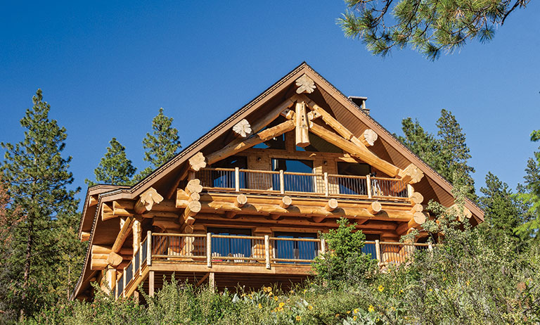 Log Home In the Rocky Mountains