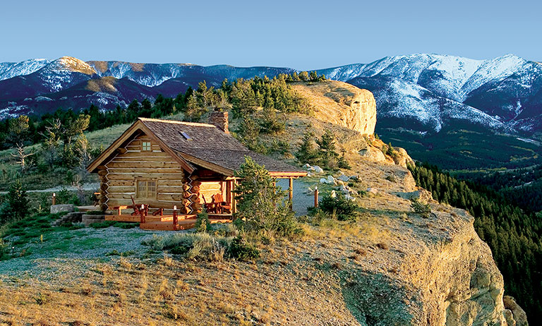 Log Home on Mountain