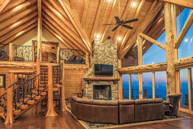 log home lighting