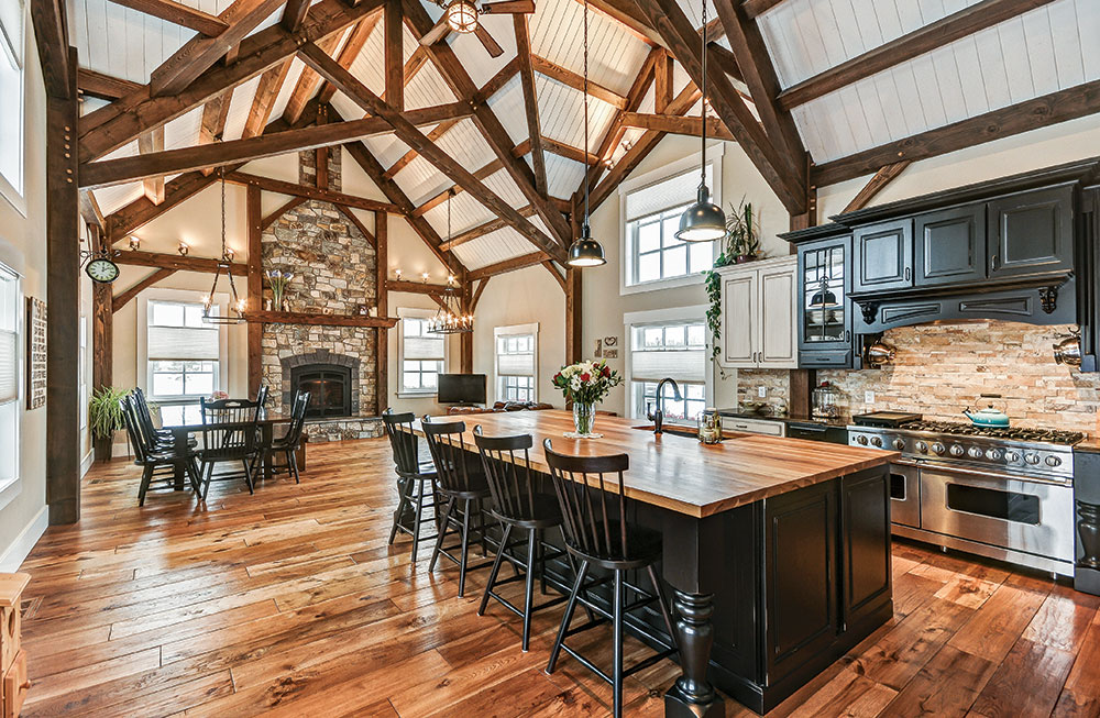 charming chic log and timber frame kitchens rh timberhomeliving com rustic timber frame kitchens rustic timber frame kitchens