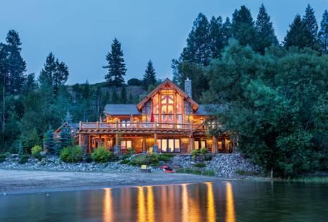 log homes waterfront
