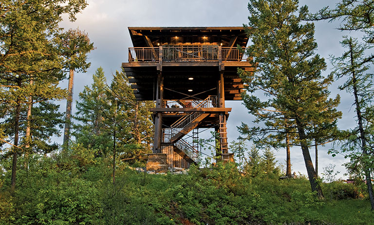 A Timber Frame Fire Tower