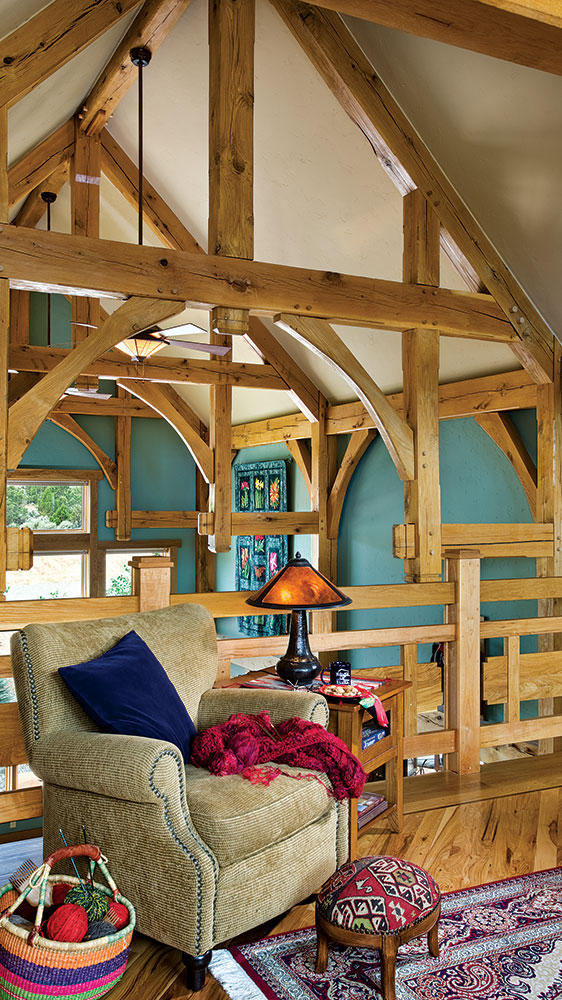 timber frame home colorado sitting room