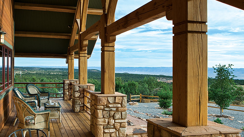 timber frame home outside colorado mountains