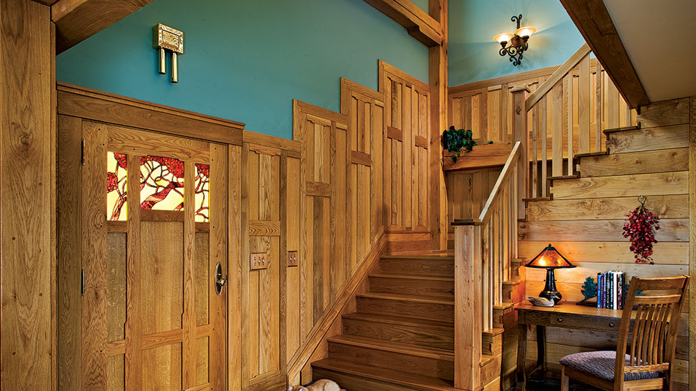 timber frame staircase colorado