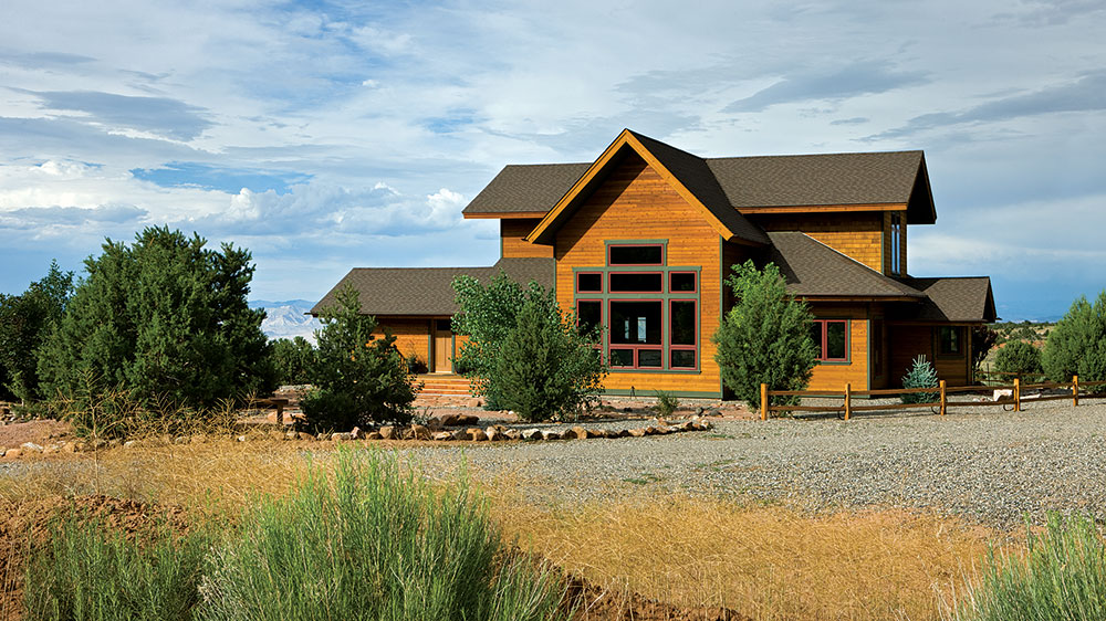 timber frame colorado outside