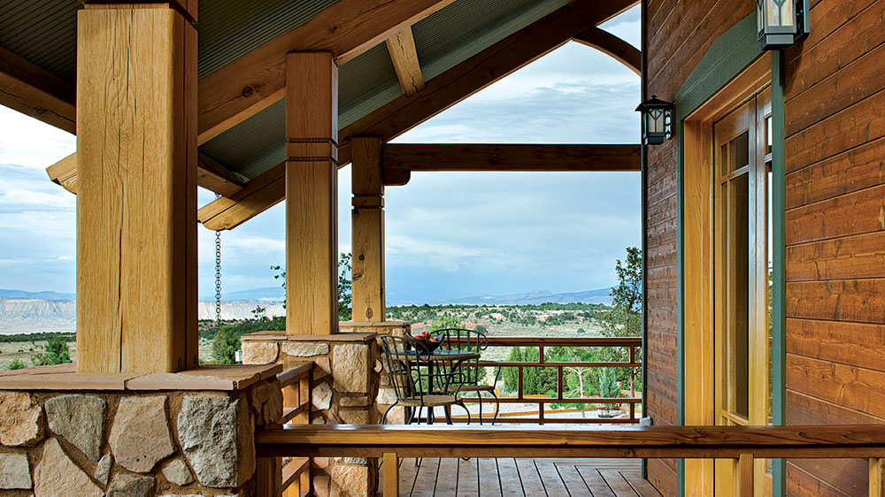 timber frame outside colorado mountains