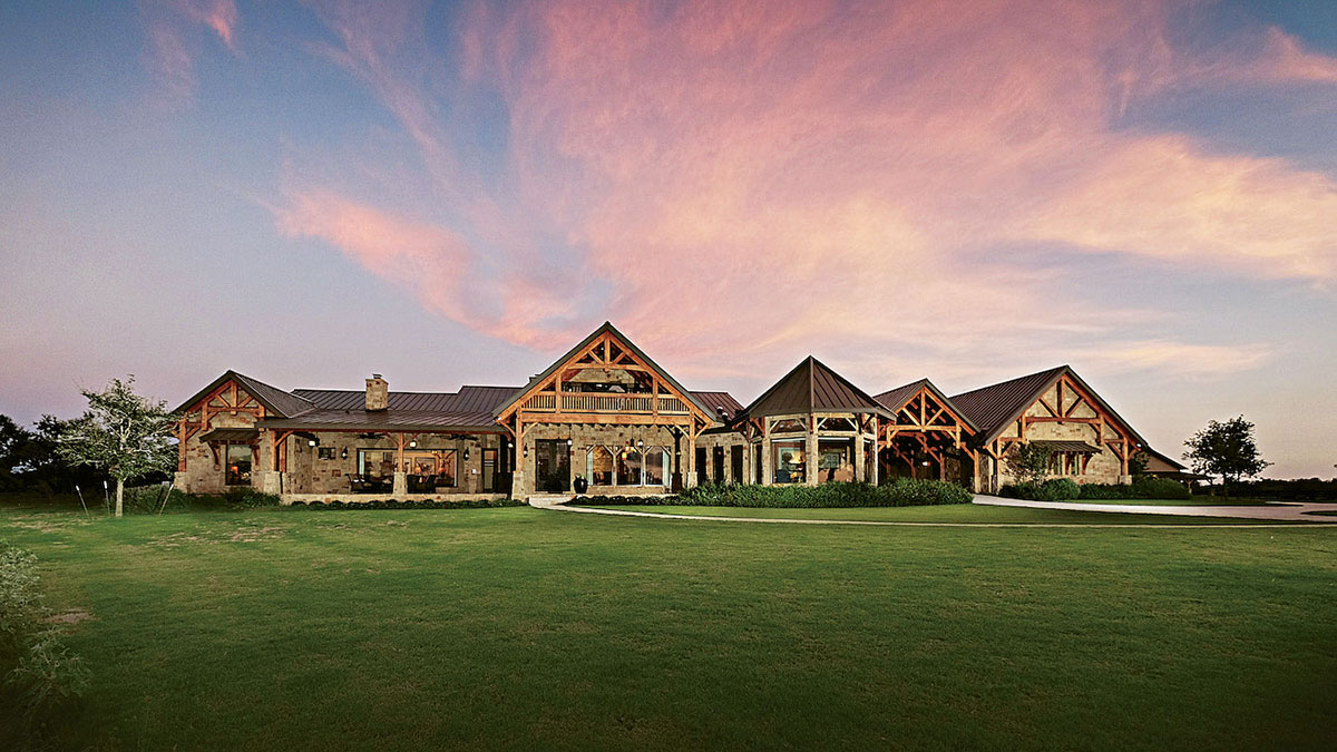 Ornate Texas Timber Frame Exterior