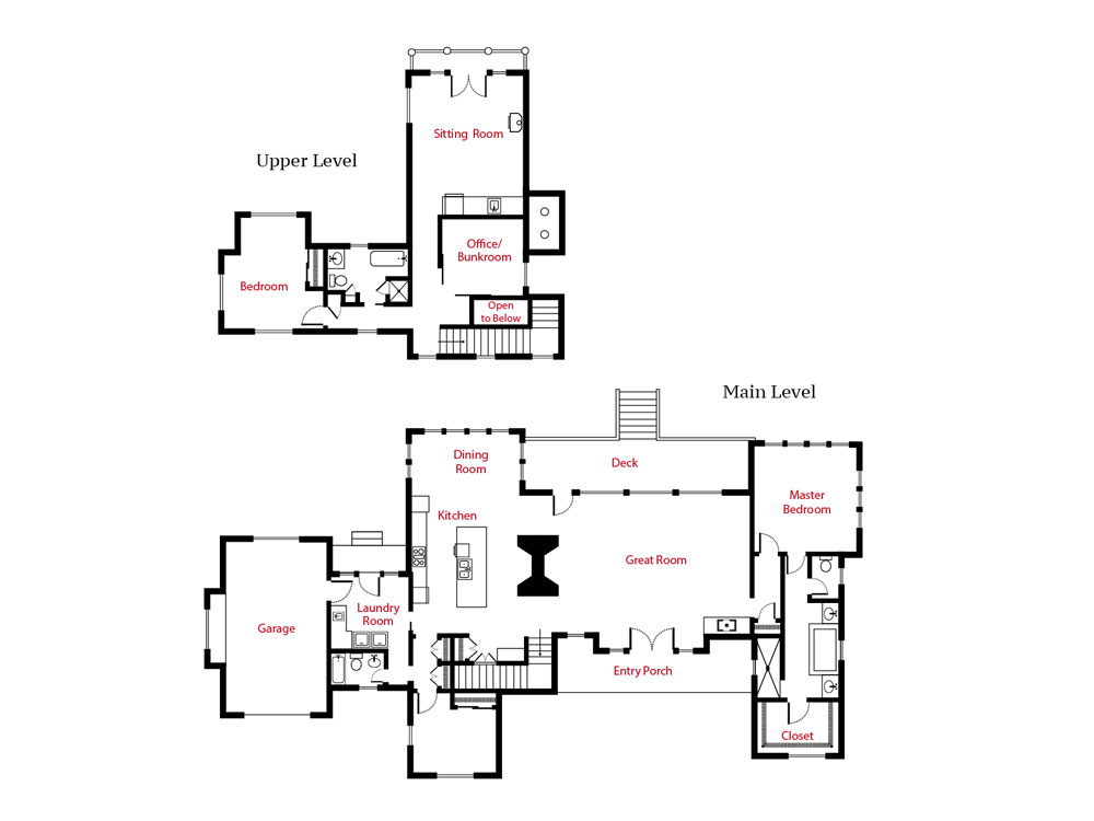 Retirement Cabin Floor Plan