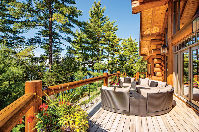 log home decks