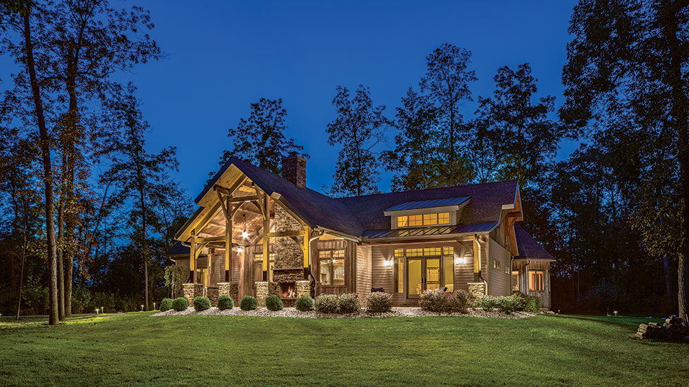 An Ohio Timber-Frame Retirement Retreat
