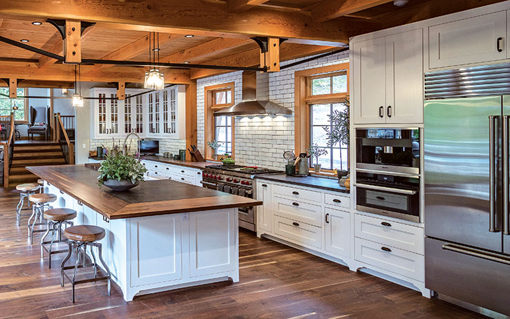 5 Open-Concept Timber Frame Kitchens