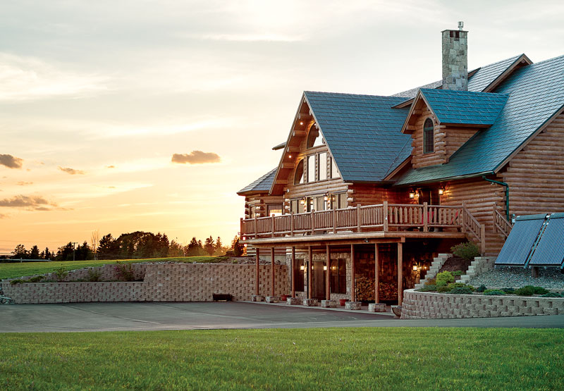 A Luxury Log Home In Northern Maine