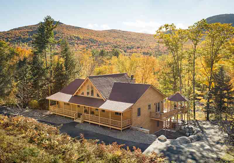 exterior--Katahdin's Addison Log Home