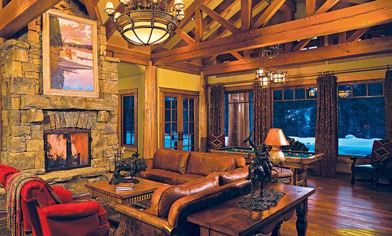 what window treatments to apply to large timber frame windows