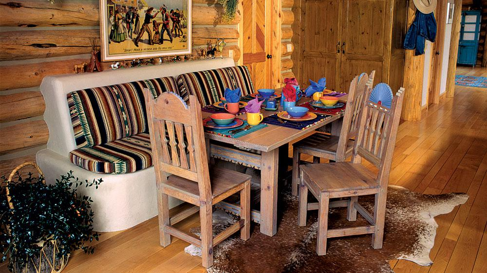 Why Add A Booth To Your Log Home Kitchen - Booth or table