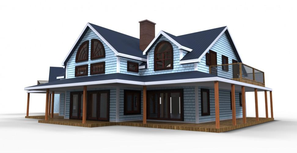 Gillis & Company Timber Frames: The Port Maitland Home Plan on