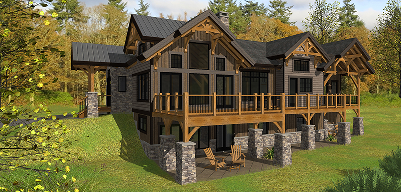 Bear Rock Timber Home Plan From Canadian Timberframes