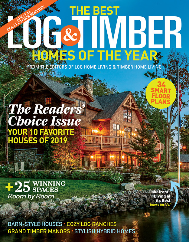 best log & timber homes 2019 cover