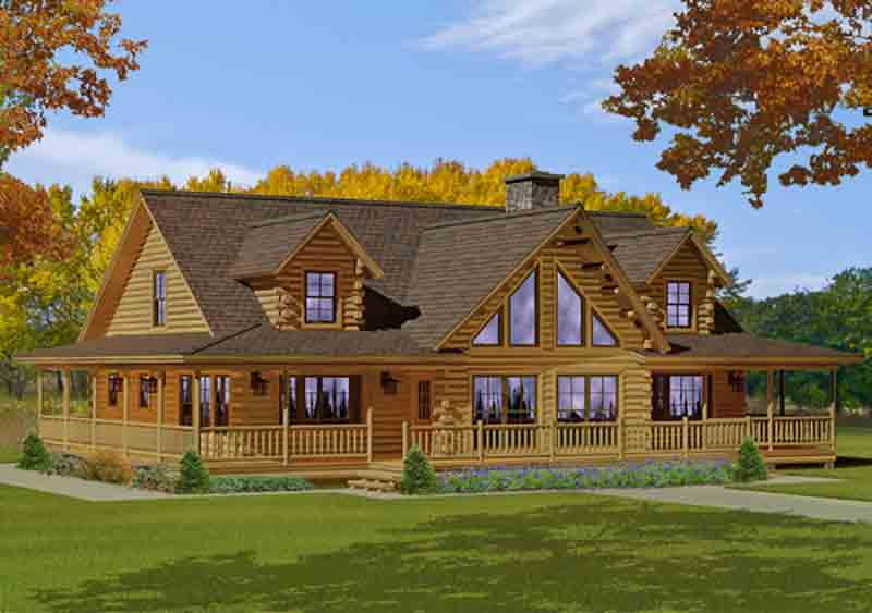 Bonanza Cedar Log Home From Katahdin