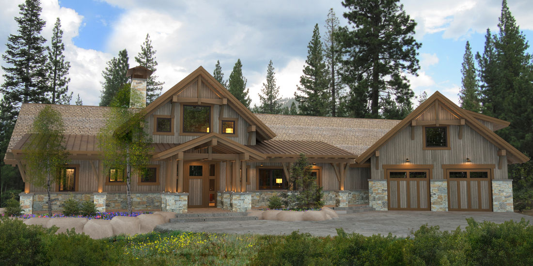 Bragg Creek Timber Frame Home Floor Plan By Canadian Timberframes, Ltd.