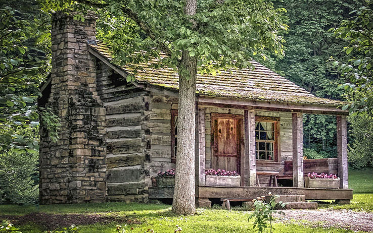 one room log cabin from the 1800s