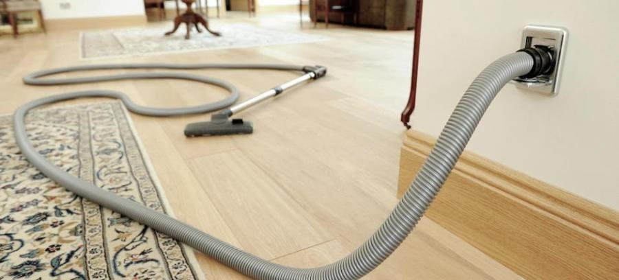 Central vacuum systems remove more log home dust and allergens than regular vacuums.
