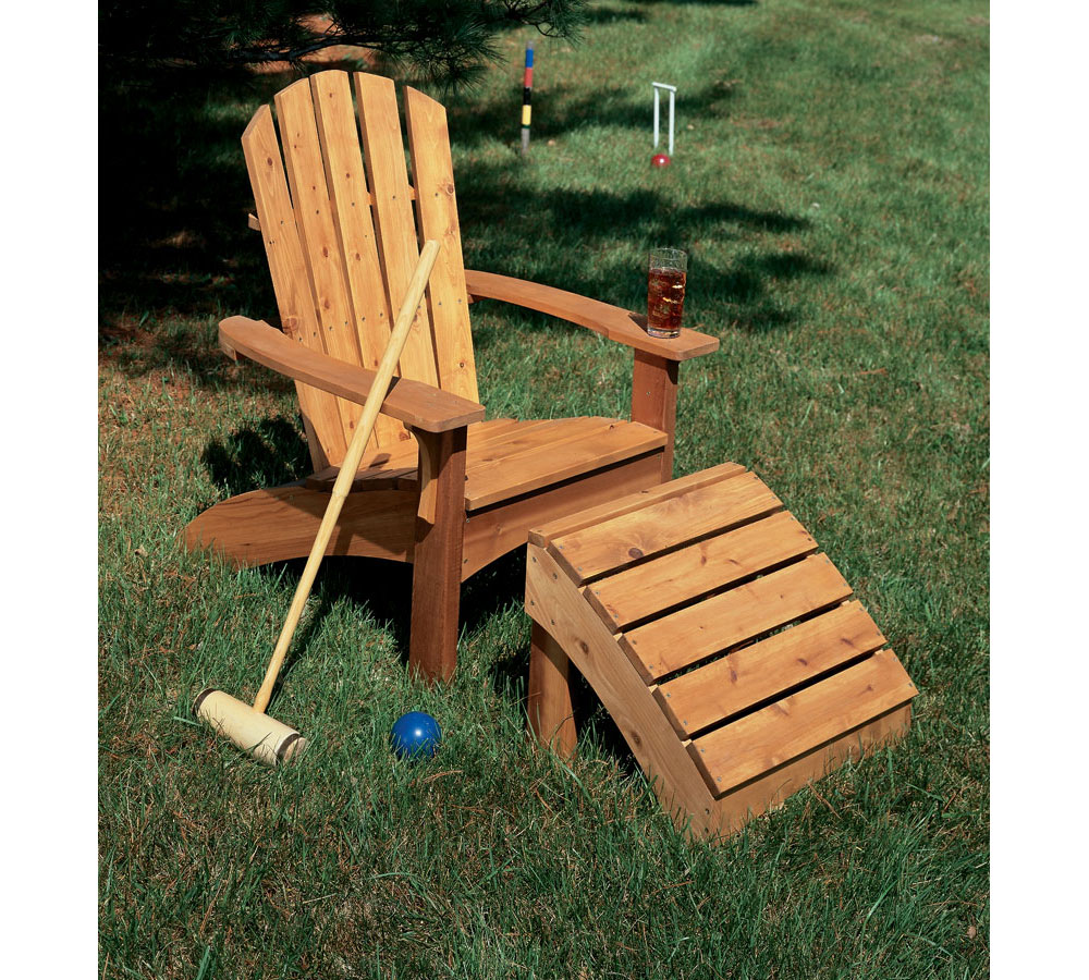 build it yourself: adirondack chair and ottoman
