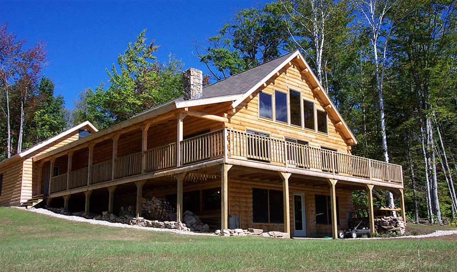 Mountain view home plan by coventry log homes for Mountain view floor plans