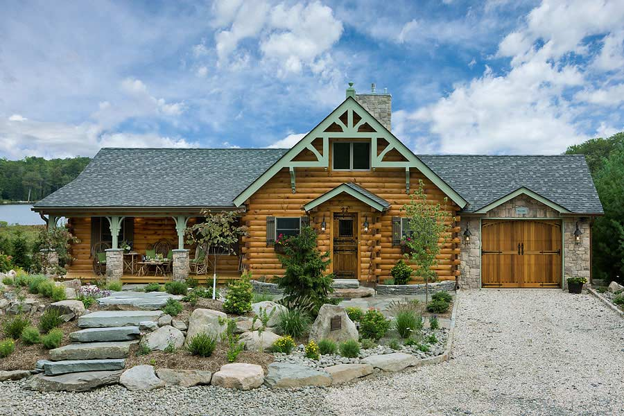 Silver ranch interactive log cabin plan by coventry log for Log cabin ranch home plans