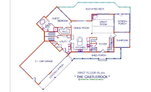 Castlerock Log Home Plan By Expedition Log Homes