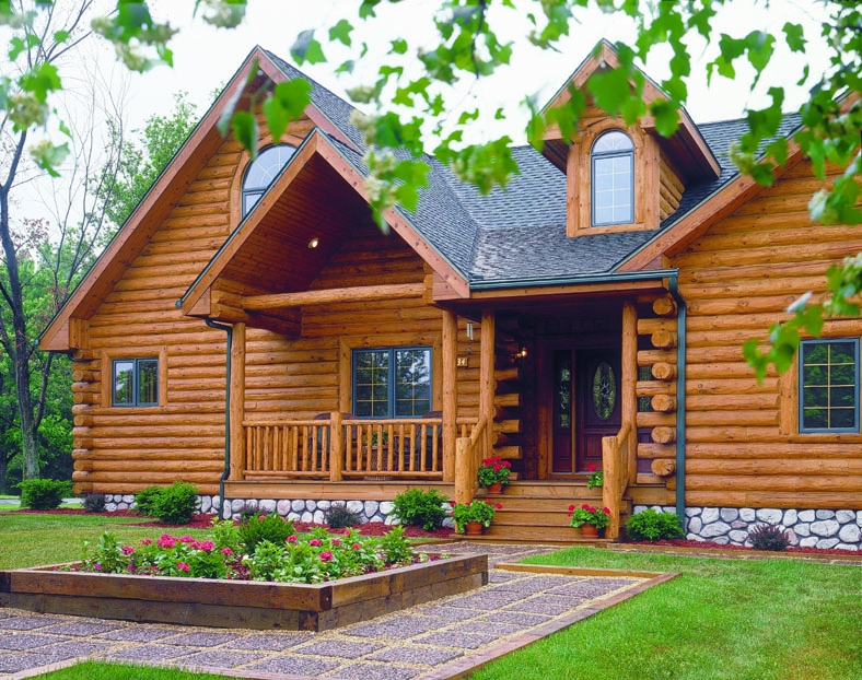 Crown point log home plan by expedition log homes