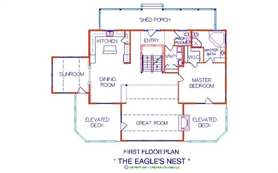 Eagle 39 S Nest Log Home Plan By Expedition Log Homes