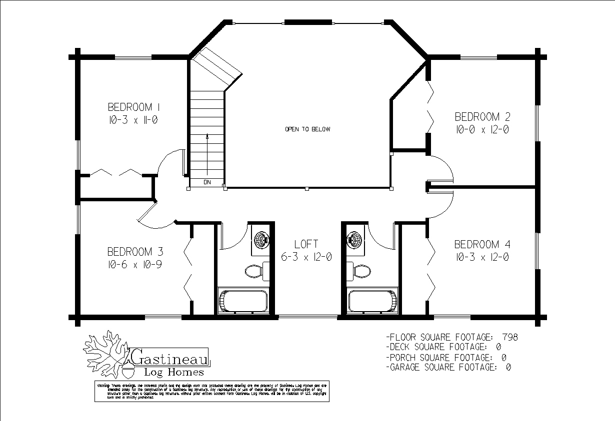 Ashton Log Home Plan by Gastineau Log Homes