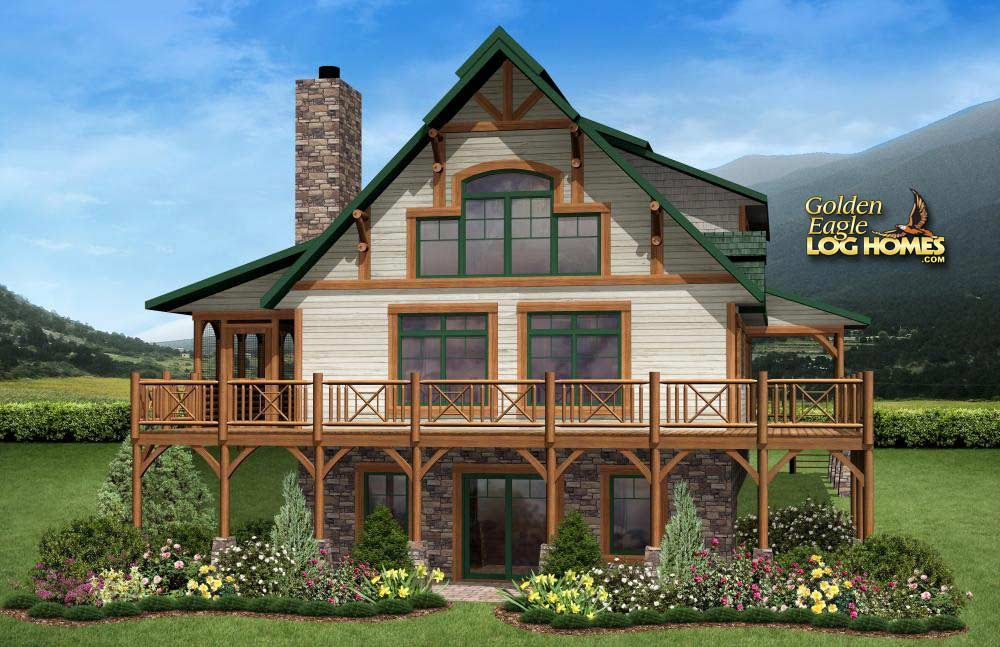 Gatlinburg Log Home Plan By Golden Eagle Log Timber Homes