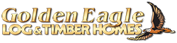 golden eagle log and timber homes logo