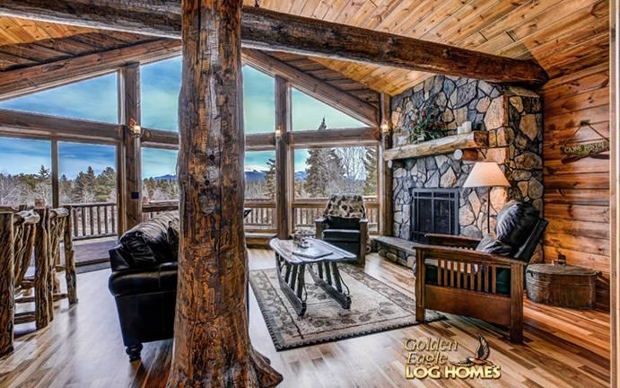 Exterior: Ski Home Prow Log Home Floor Plan From Golden Eagle Log